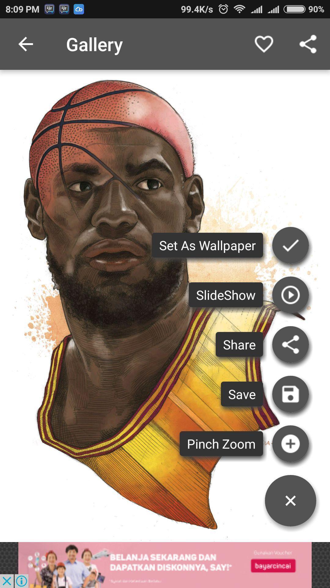 LeBron James Wallpaper poster