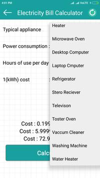 Electricity cost calculator تصوير الشاشة 3