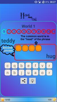 Head & Tail Word Game apk screenshot