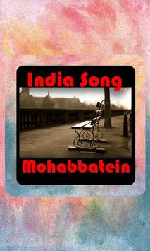 India Song Mohabbatein poster