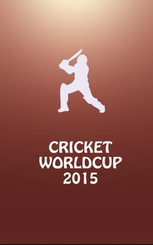 Cricket Worldcup 2015 poster