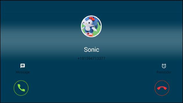 Call From Sonic Fun screenshot 1