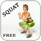 Booty Squat Workout Challenge icon
