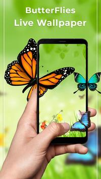 Butterfly Free Live Wallpaper poster