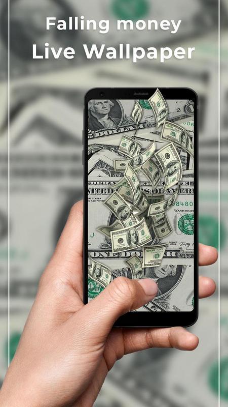 Falling Money Free Live Wallpaper Poster