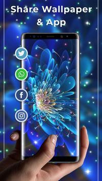 Glowing Flowers Free Live Wallpapers screenshot 3