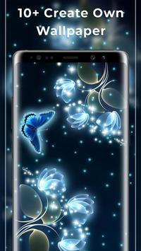 Glowing Flowers Free Live Wallpapers screenshot 1