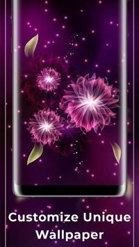 Glowing Flowers Free Live Wallpapers screenshot 2