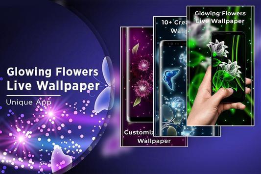 Glowing Flowers Free Live Wallpapers screenshot 4