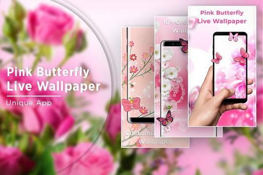 Pink Butterfly Free live wallpaper screenshot 4
