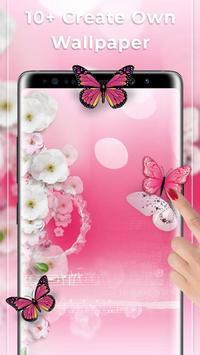 Pink Butterfly Free live wallpaper screenshot 1