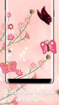 Pink Butterfly Free live wallpaper screenshot 2