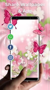 Pink Butterfly Free live wallpaper screenshot 3