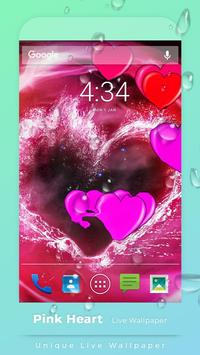 Pink Hearts Live Wallpaper poster