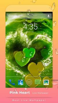 Pink Hearts Live Wallpaper screenshot 1