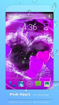 Pink Hearts Live Wallpaper screenshot 2