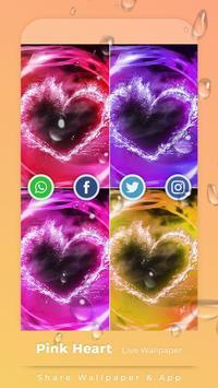Pink Hearts Live Wallpaper screenshot 3