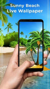Sunny Beach Free live wallpaper poster