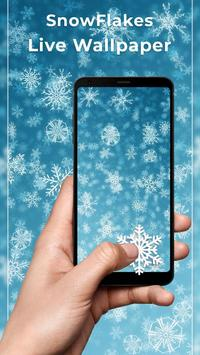 Snowflakes Free live wallpaper poster