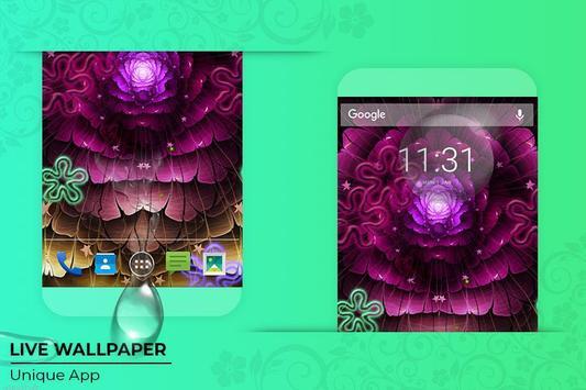 Neon Flowers Free live wallpaper screenshot 4