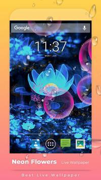 Neon Flowers Free live wallpaper screenshot 1