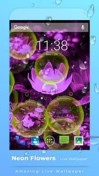 Neon Flowers Free live wallpaper screenshot 2
