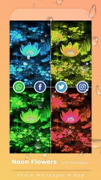 Neon Flowers Free live wallpaper screenshot 3