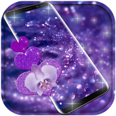Purple glitter Free live wallpaper icon