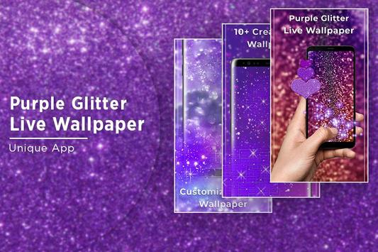 Purple glitter Free live wallpaper apk screenshot