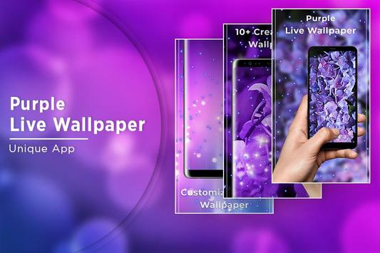 Purple Free live wallpaper screenshot 4