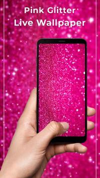 Pink glitter Free live wallpaper poster