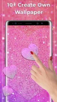 Pink glitter Free live wallpaper screenshot 1