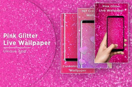 Pink glitter Free live wallpaper screenshot 4