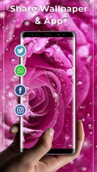 Rose Pink Water Drops Free live wallpaper screenshot 3