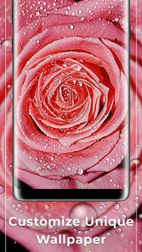 Rose Pink Water Drops Free live wallpaper screenshot 2