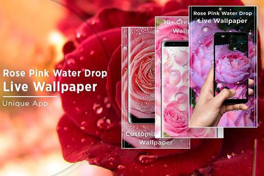 Rose Pink Water Drops Free live wallpaper screenshot 4
