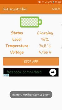 Battery Notifier apk screenshot