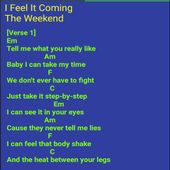 I Feel It Coming Lyrics icon