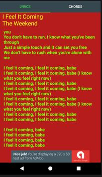 I Feel It Coming Lyrics apk screenshot