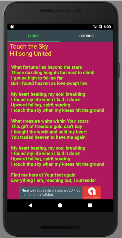 Touch The Sky Lyrics cho Android - Tải về APK