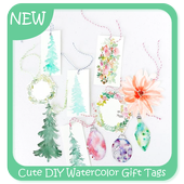 Cute DIY Watercolor Gift Tags icon
