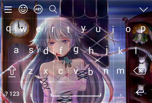 Girl Alice Keyboard Theme apk screenshot