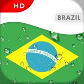Brazil Flag 3D live wallpaper icon