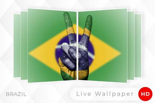 Brazil Flag 3D live wallpaper screenshot 4