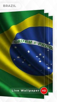 Brazil Flag 3D live wallpaper poster