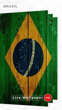 Brazil Flag 3D live wallpaper screenshot 2