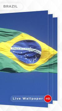 Brazil Flag 3D live wallpaper screenshot 3