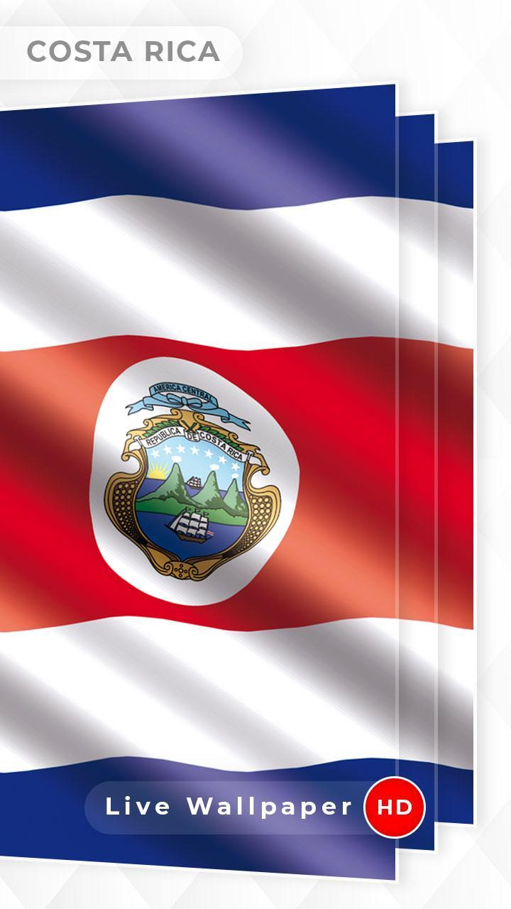 Costa Rica Flag 3d Live Wallpaper For Android Apk Download