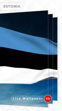 Estonia Flag 3D live wallpaper screenshot 3