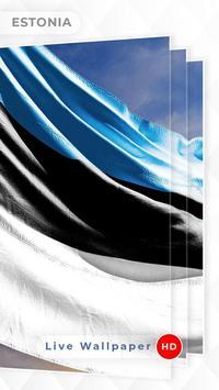 Estonia Flag 3D live wallpaper poster